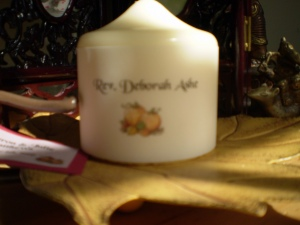 Candle made by Julie Matthews, one of my brides